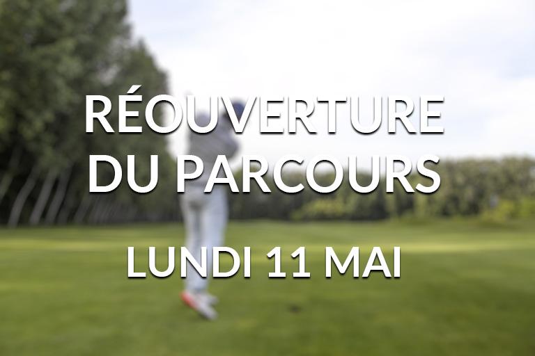 Réouverture Golf 11 mai